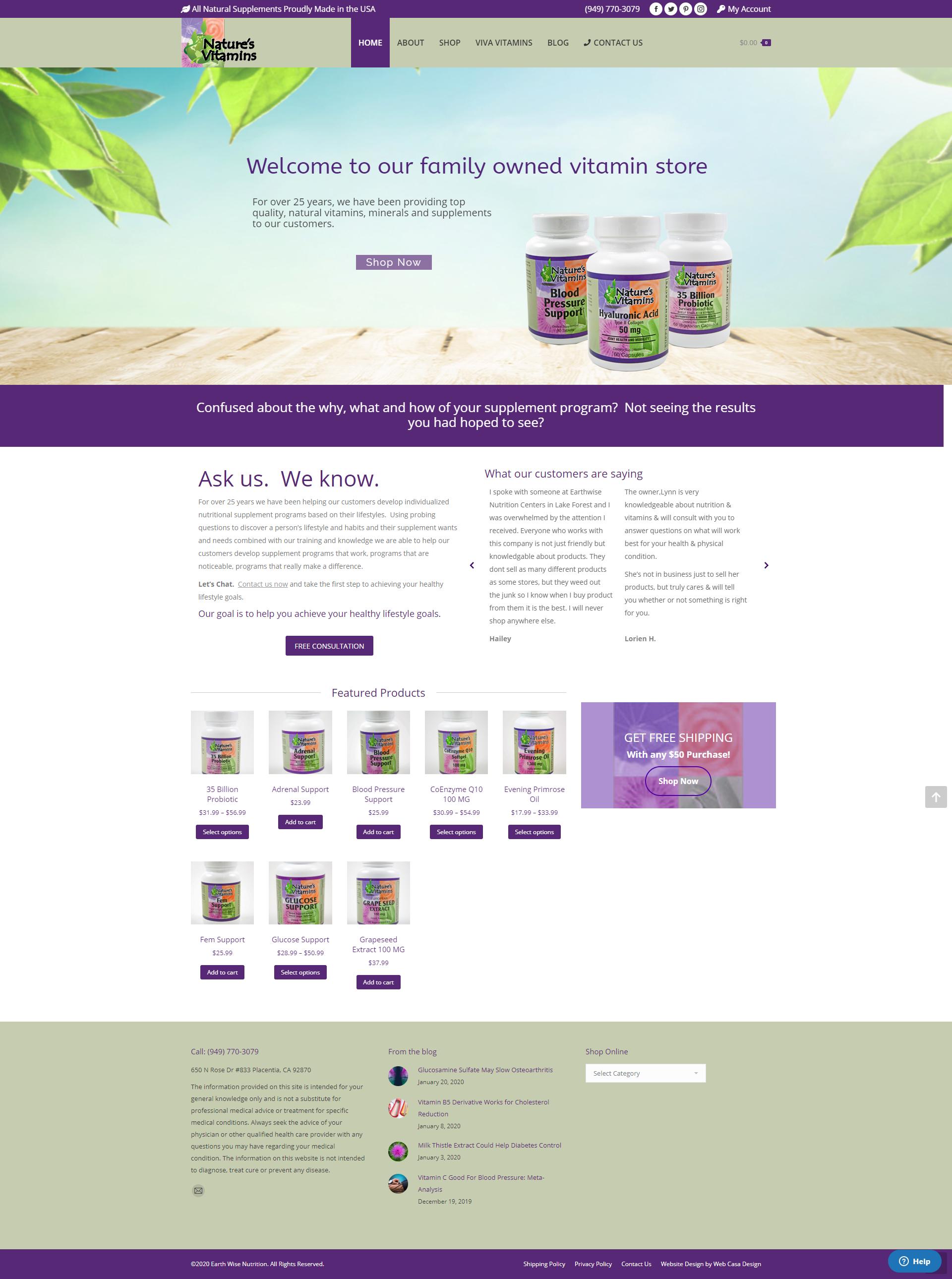 Natures Vitamins Online